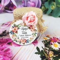 Çiçekli Kavanoz Nikah Şekeri