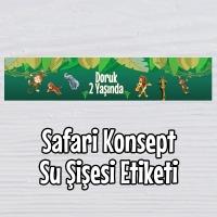 Safari Konsept Su Şişesi Etiketi