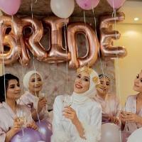 Bride Folyo Balon Rose Gold