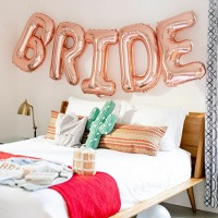 Bride Rose Gold Folyo Balon Seti